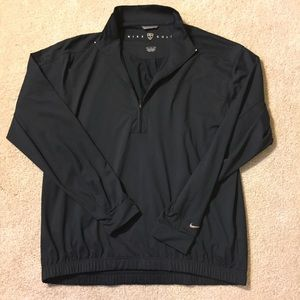 Nike golf half zip pullover black medium m jacket